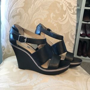 Black wedges by INC size 10